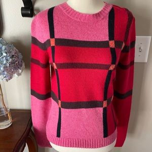 Lilly Pulitzer Pink Colorblock Crew Neck Sweater S